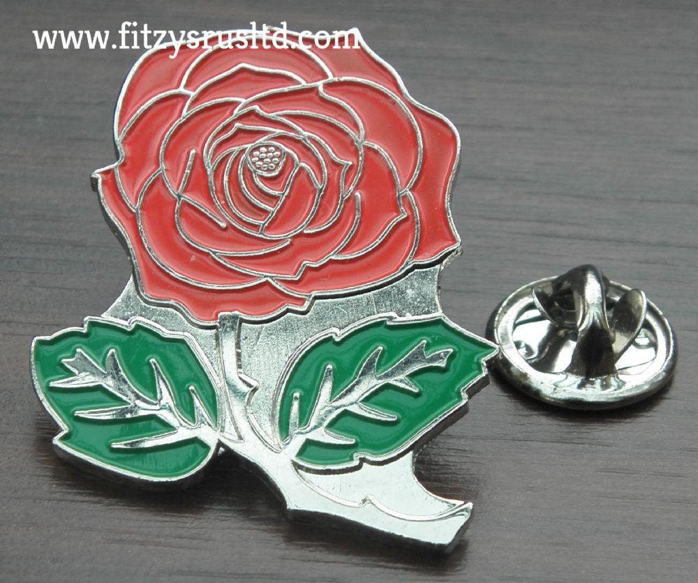 Beautiful English Red Rose Lapel / Hat / Tie Pin Badge / Brooch - Brand New